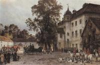 1887-hermannschnee-carljohannarnold-ankunftkaiserwilhelmsi-zurrotenjagdimgrunewald-quelle-wikipedia