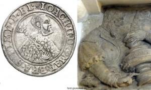 1542 Vergleich Joachim II - Guldengroschen mit Relief