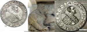 1542 Vergleich Joachim II - Guldengroschen mit Relief und Abstraktion 1730