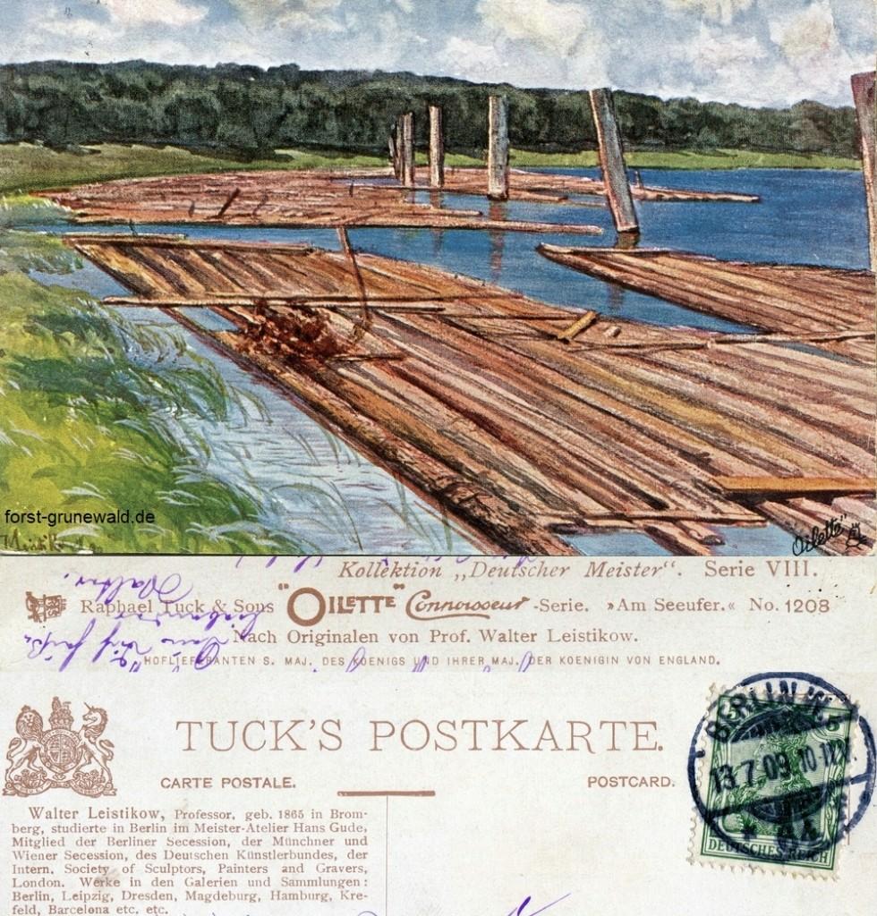 """Walter Leistikow, """"Am Seeufer"""": So kann man sich damals wohl den Stößensee vorstellen. Auf der Anhöhe fehlt """"eigentlich"""" nur der """"Spukpavillon""""."""