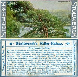 1904 Stollwerck Album 7 Serie 312 Nr. 5 - Grunewald - Seen - klein