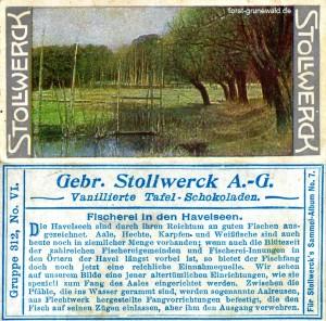 1904 Stollwerk Album 7 Serie 312 Nr. 6 - Grunewald - Fischerei - klein