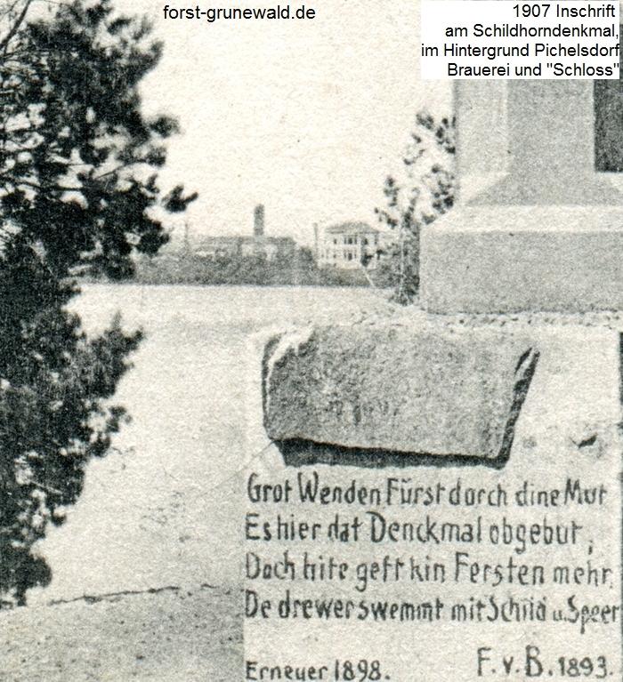 1907-04-07 Schildhorndenkmal mit Schloss-a
