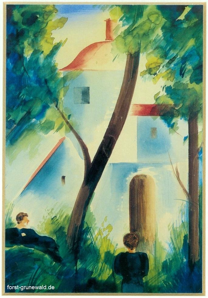 1927 Oskar Schlemmer Jagdschloss Grunewald klein
