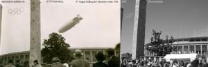 1936 Aug 01 - Eröffnung O-Spiele, LZ129 Hindenburg