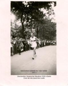 1936 Marathon deutscher Läufer