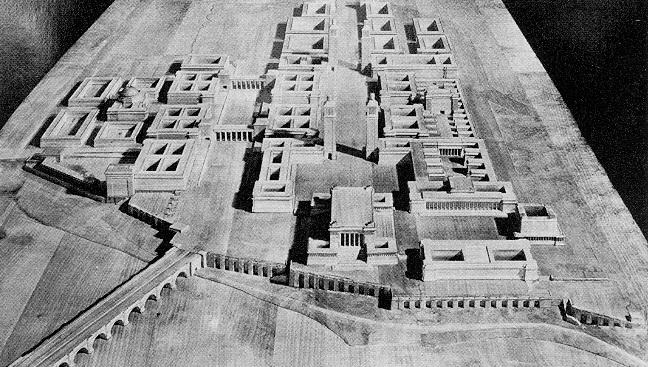 Ruhr-Universität Bochum: Berlin, Wettbewerb für die Hochschulstadt (1937), Modellaufnahme
