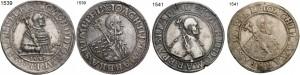1939 1539 1541 1541 Joachim II auf Muenzen