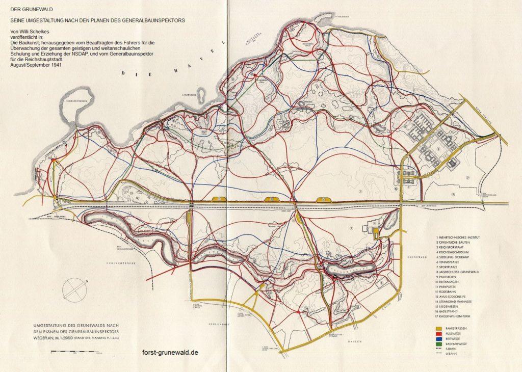 1941-08 Waldpark Grunewald - Die Baukunst - 06 - Wegeplanung klein