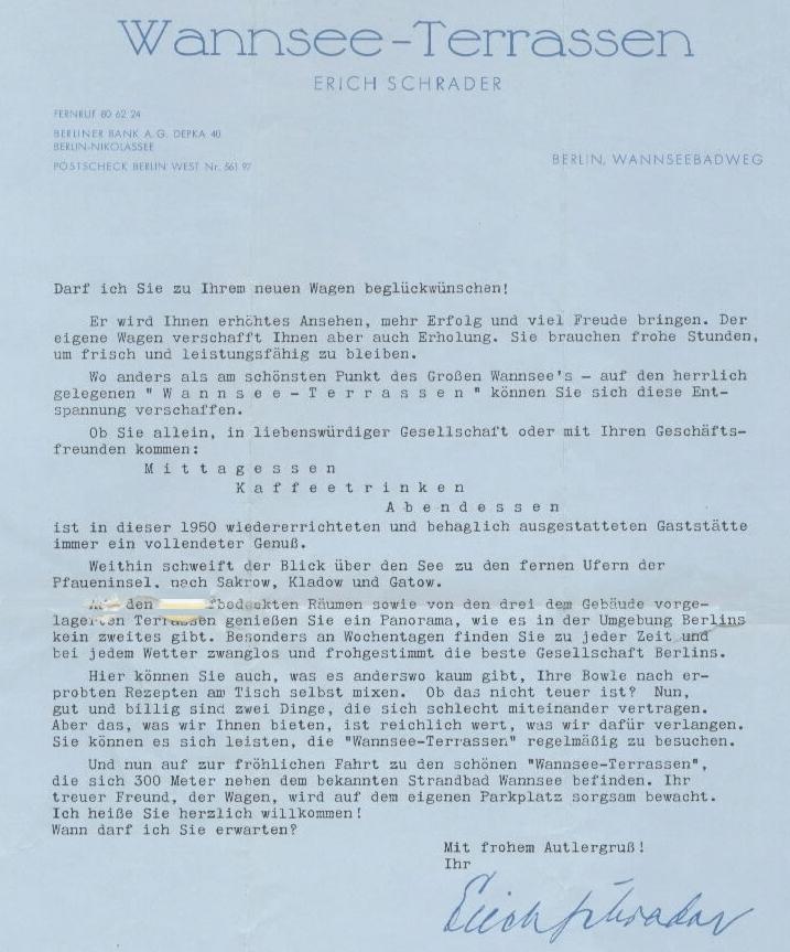 1954 Werbebrief-Brief a