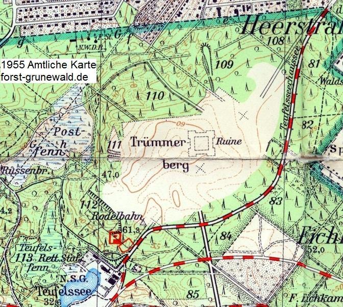 1955 Hochschulstadt-Teufelsberg-AmtlKarte a klein