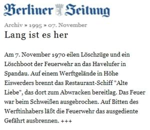 1970 Berliner Zeitung Alte Liebe 1