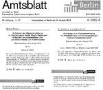 2016-08-19 Amtsblatt Schlachtensee und Krumme Lanke Aufhebung HundeMenschenverbot