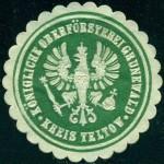 Siegelmarke - Koenigliche Oberforsterei Grunewald